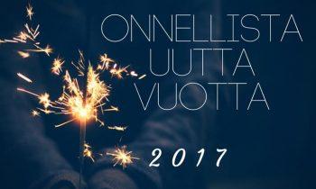 Kiitämme kuluneesta vuodesta ja toivotamme kaikille onnellista uutta vuotta 2017…
